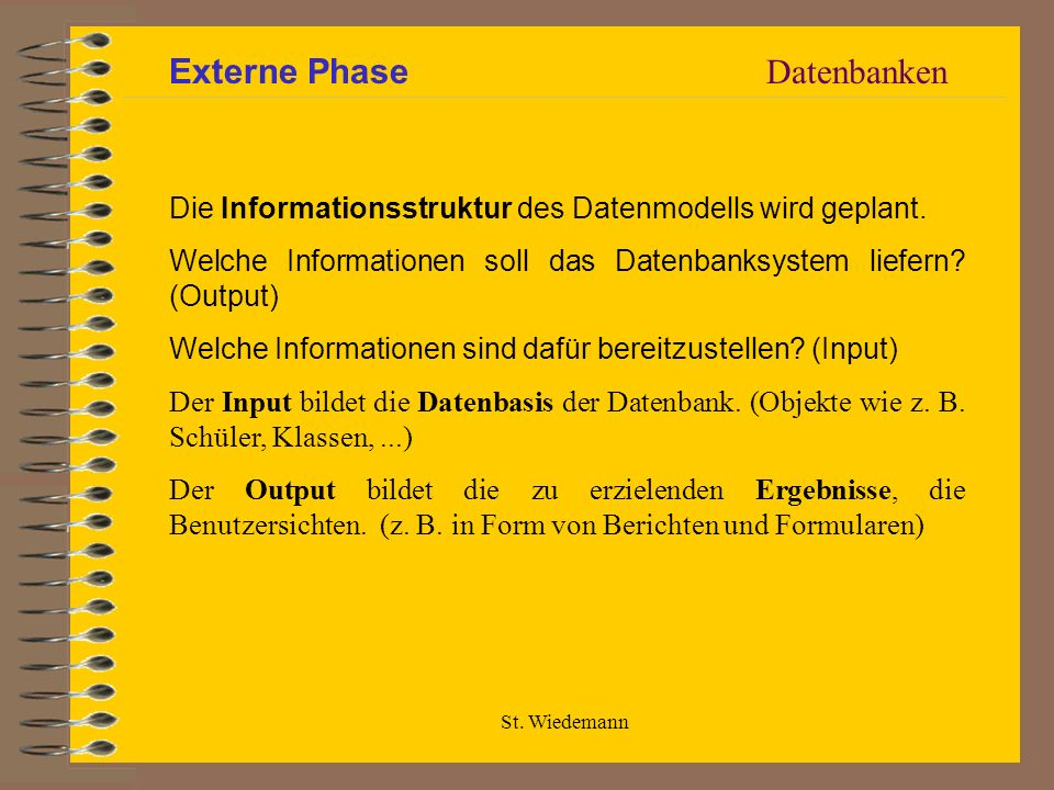 Externe Phase Datenbanken