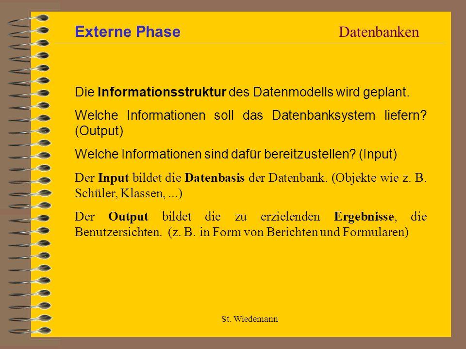 Externe Phase Datenbanken