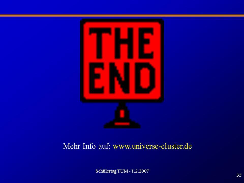 Mehr Info auf: www.universe-cluster.de