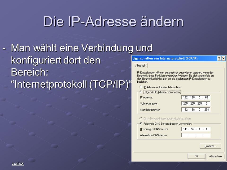 Die IP-Adresse ändern