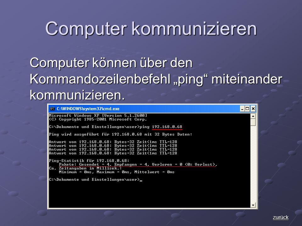 Computer kommunizieren