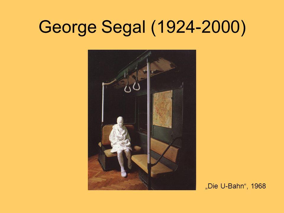 """George Segal (1924-2000) """"Die U-Bahn , 1968"""