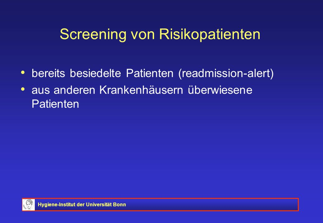 Screening von Risikopatienten