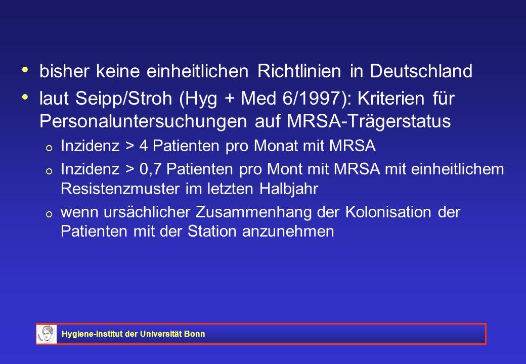 bisher keine einheitlichen Richtlinien in Deutschland