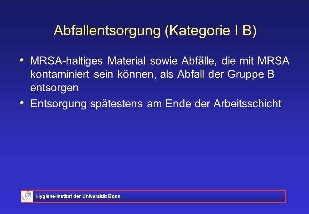 Abfallentsorgung (Kategorie I B)