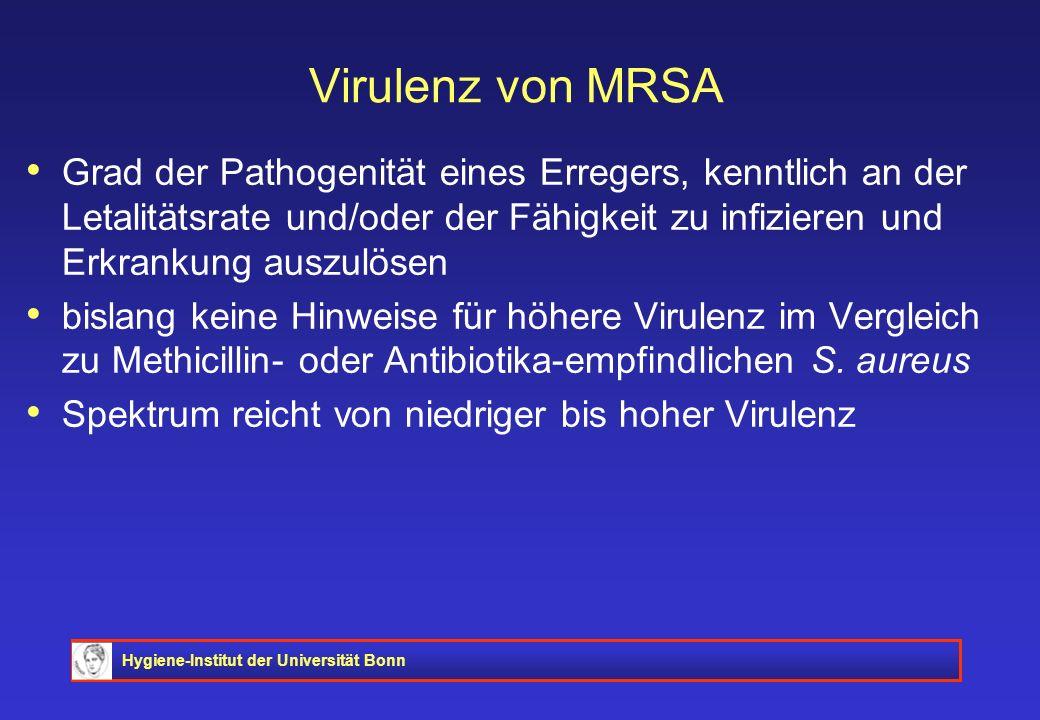 Virulenz von MRSA