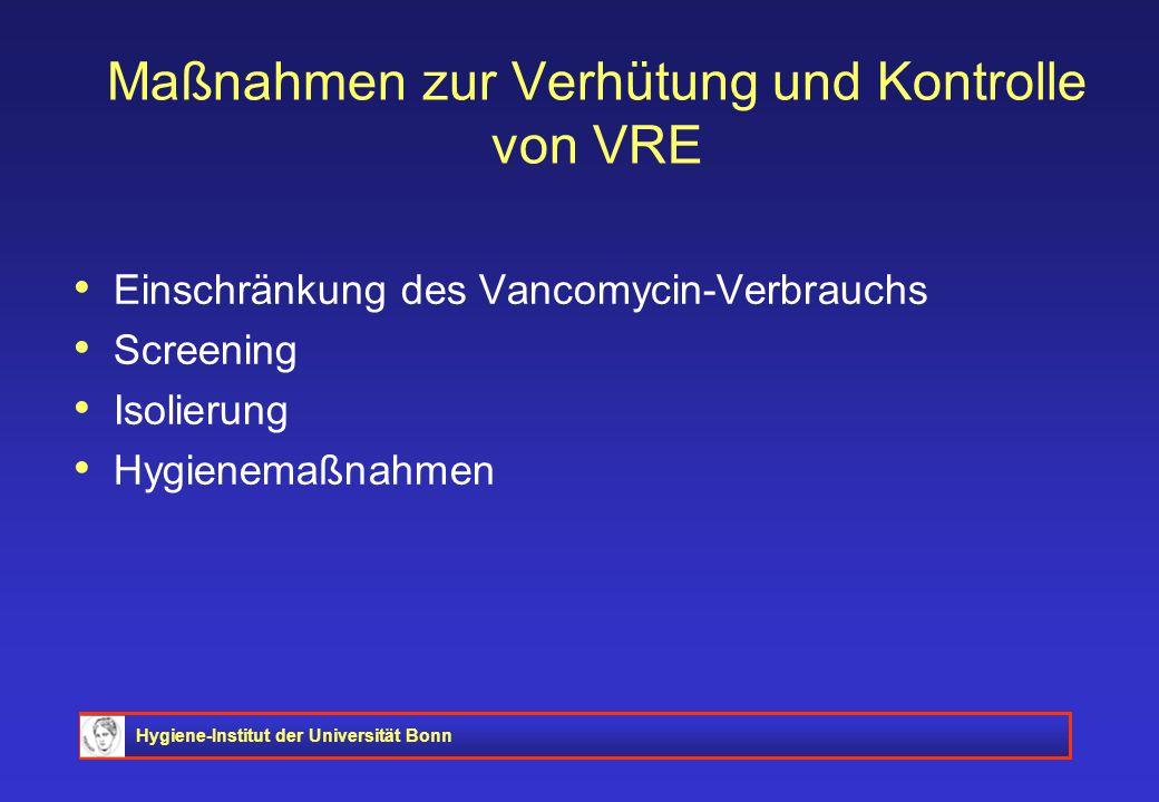 Maßnahmen zur Verhütung und Kontrolle von VRE