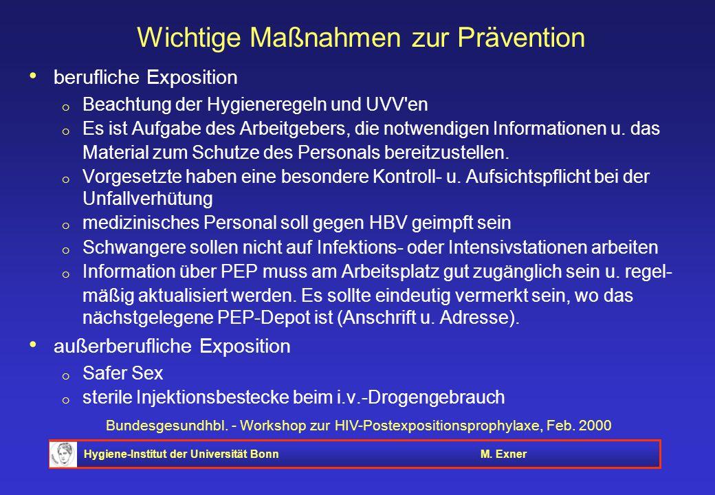 Wichtige Maßnahmen zur Prävention
