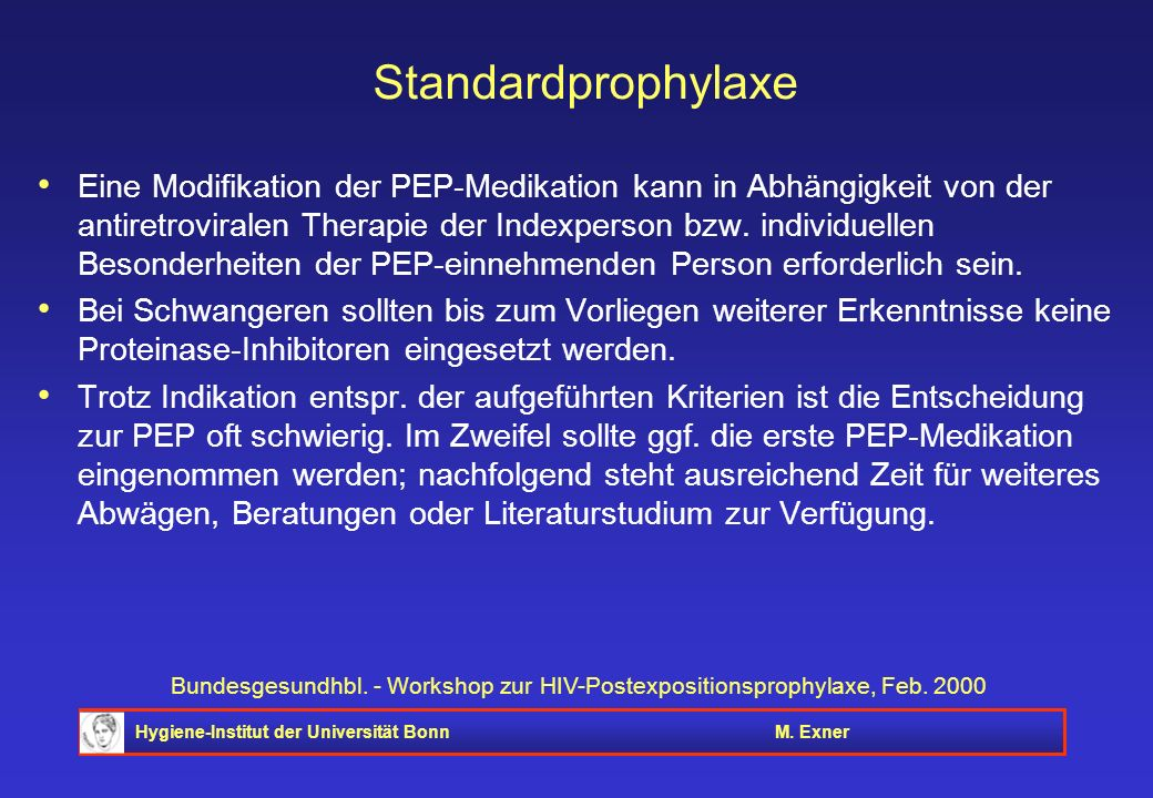 Standardprophylaxe