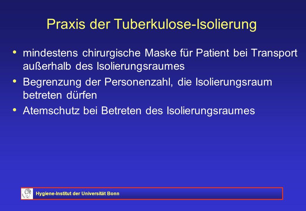 Praxis der Tuberkulose-Isolierung