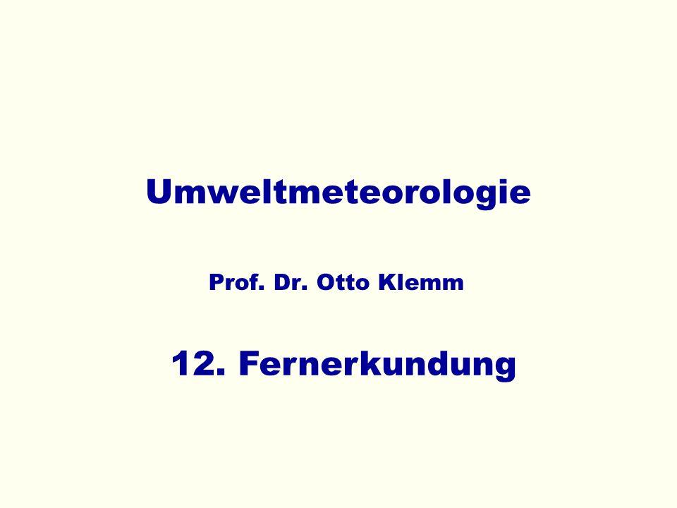 Umweltmeteorologie 12. Fernerkundung