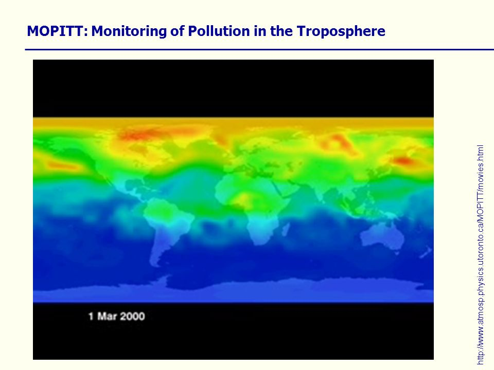 MOPITT: Monitoring of Pollution in the Troposphere