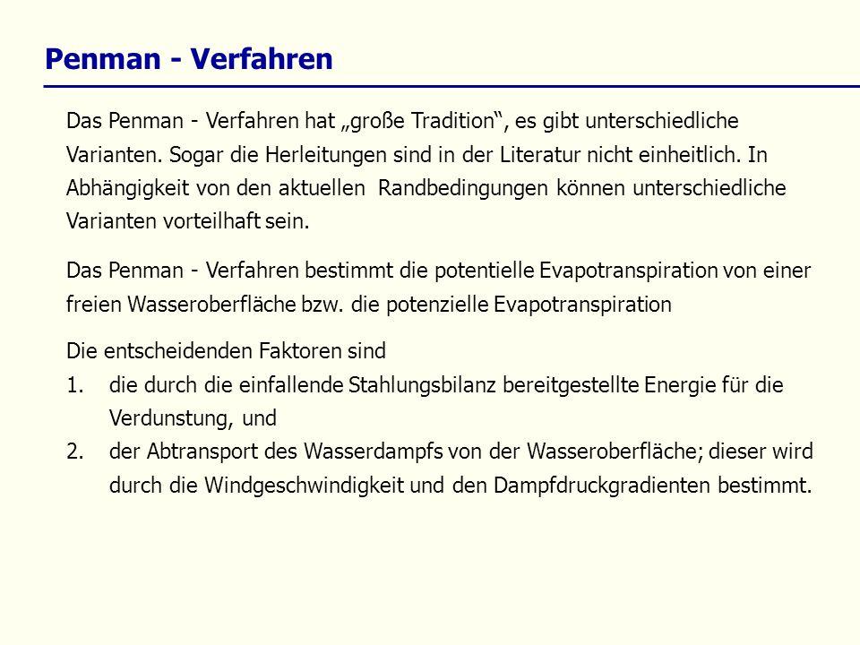 Penman - Verfahren