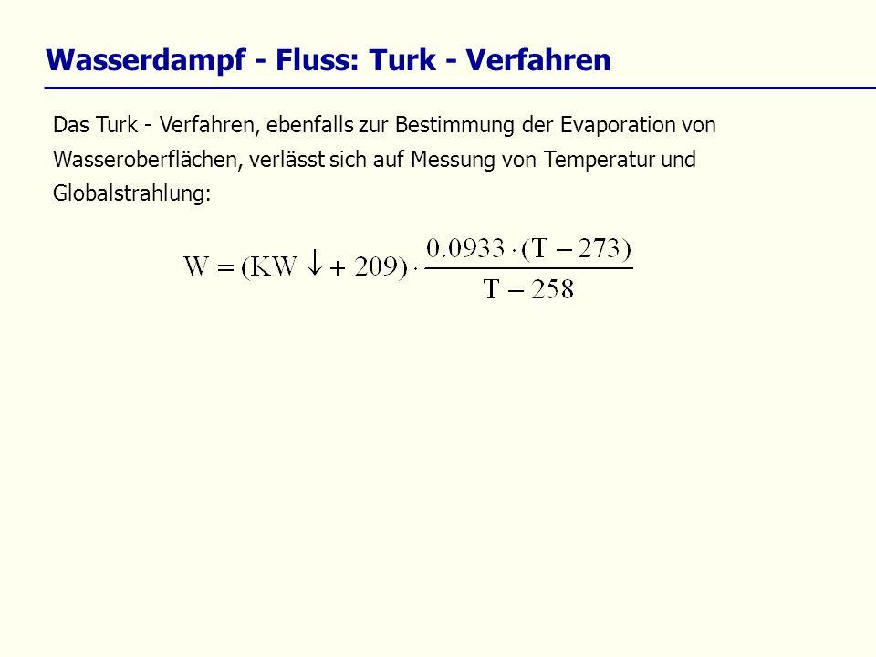 Wasserdampf - Fluss: Turk - Verfahren