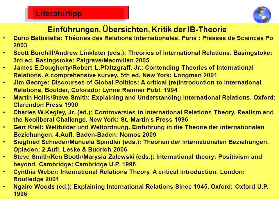 Einführungen, Übersichten, Kritik der IB-Theorie