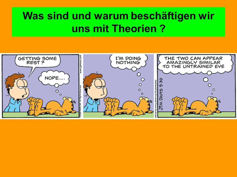 Was sind und warum beschäftigen wir uns mit Theorien
