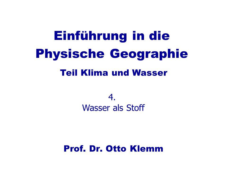 Einführung in die Physische Geographie