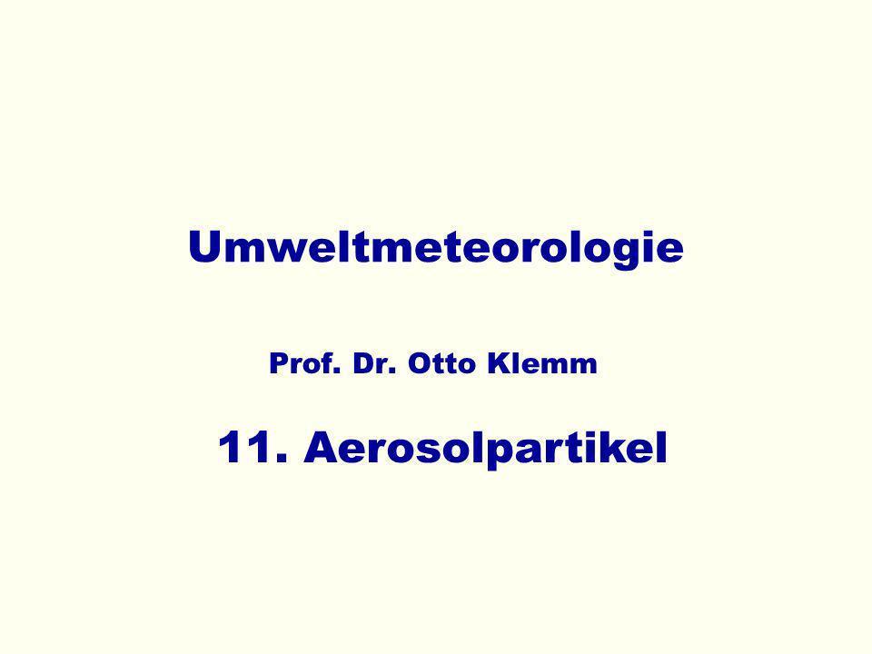 Umweltmeteorologie 11. Aerosolpartikel