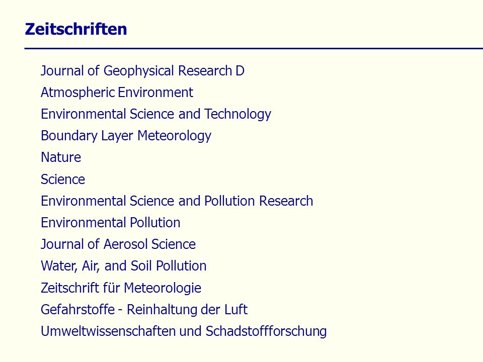 Zeitschriften Journal of Geophysical Research D