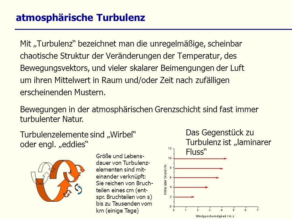 atmosphärische Turbulenz