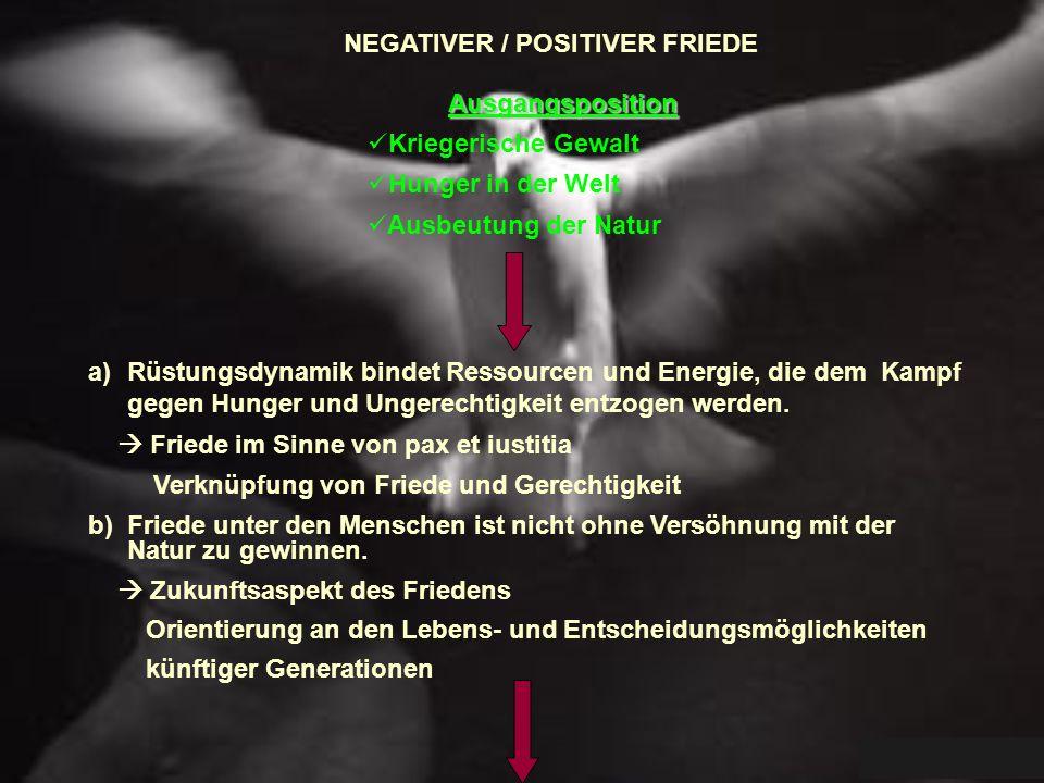 NEGATIVER / POSITIVER FRIEDE
