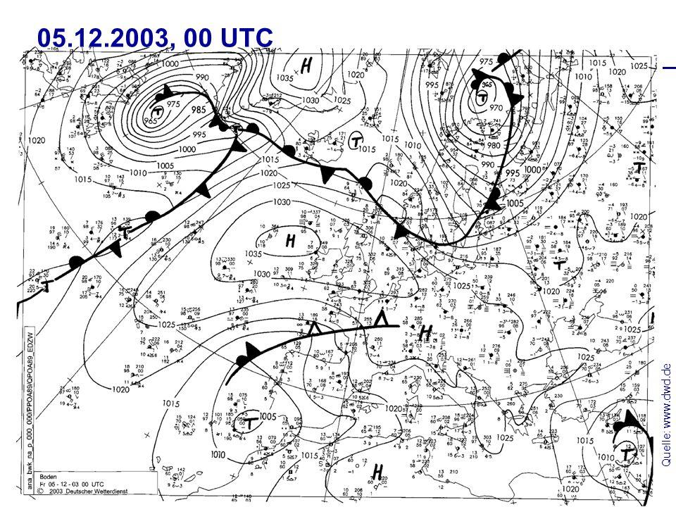 05.12.2003, 00 UTC Quelle: www.dwd.de