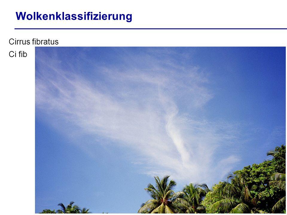 Wolkenklassifizierung