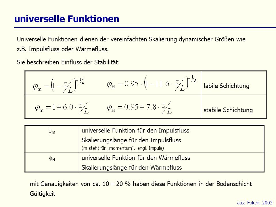 universelle Funktionen