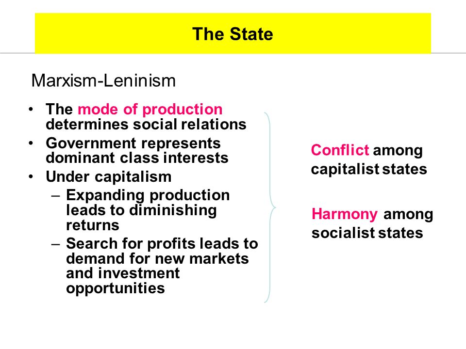 The State Marxism-Leninism