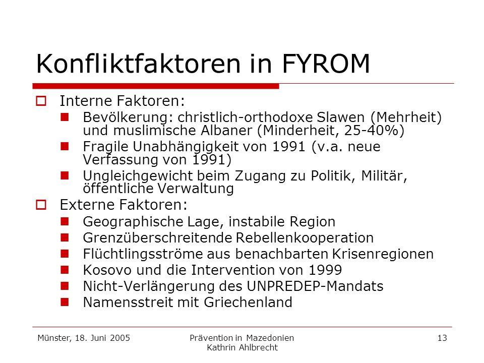 Konfliktfaktoren in FYROM