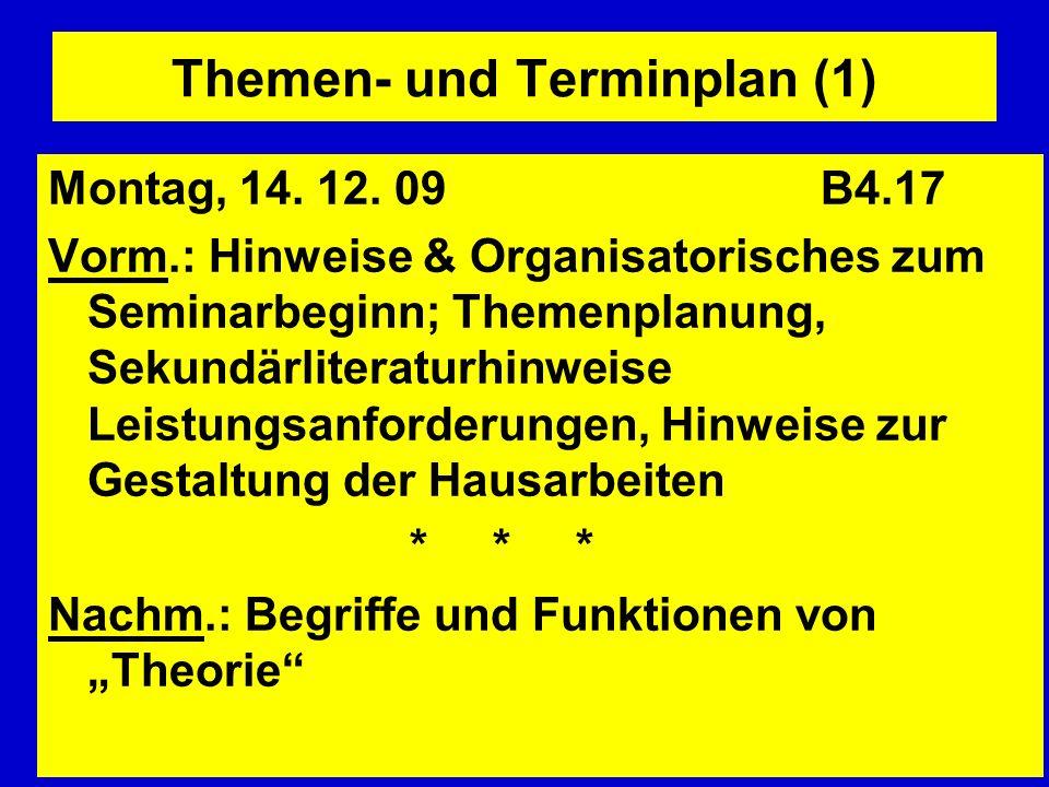 Themen- und Terminplan (1)