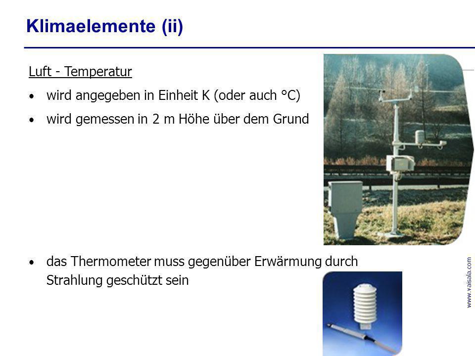 Klimaelemente (ii) Luft - Temperatur