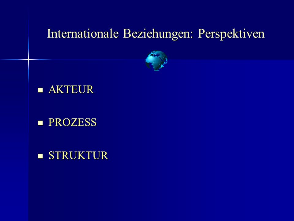Internationale Beziehungen: Perspektiven