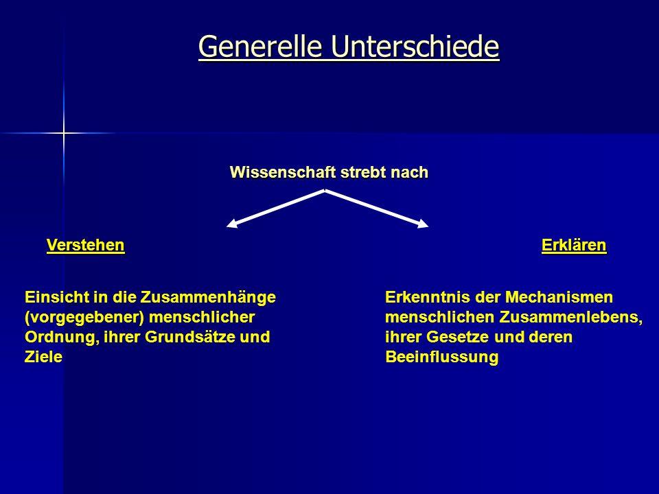 Generelle Unterschiede