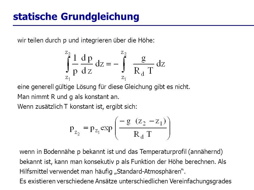 statische Grundgleichung
