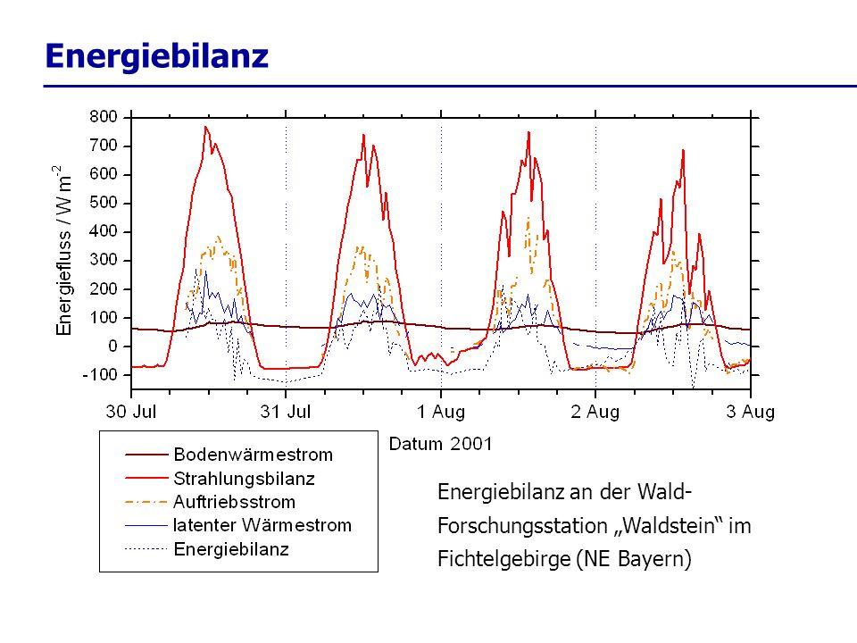 """Energiebilanz Energiebilanz an der Wald-Forschungsstation """"Waldstein im Fichtelgebirge (NE Bayern)"""