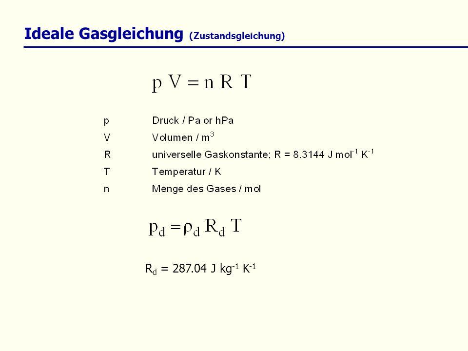 Ideale Gasgleichung (Zustandsgleichung)