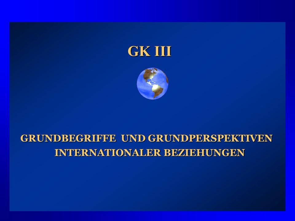 GRUNDBEGRIFFE UND GRUNDPERSPEKTIVEN INTERNATIONALER BEZIEHUNGEN