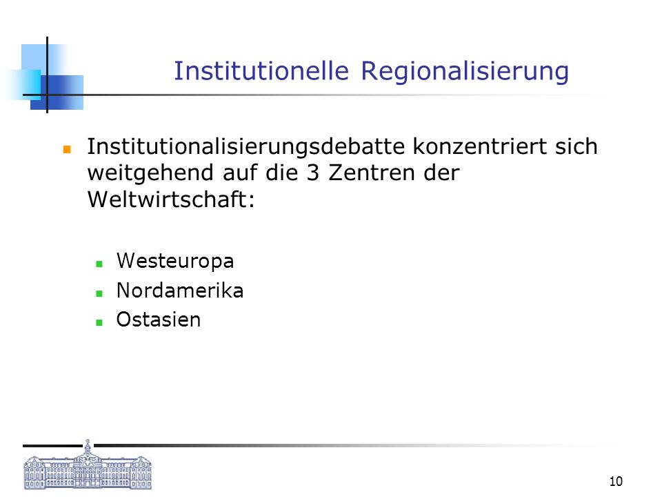 Institutionelle Regionalisierung