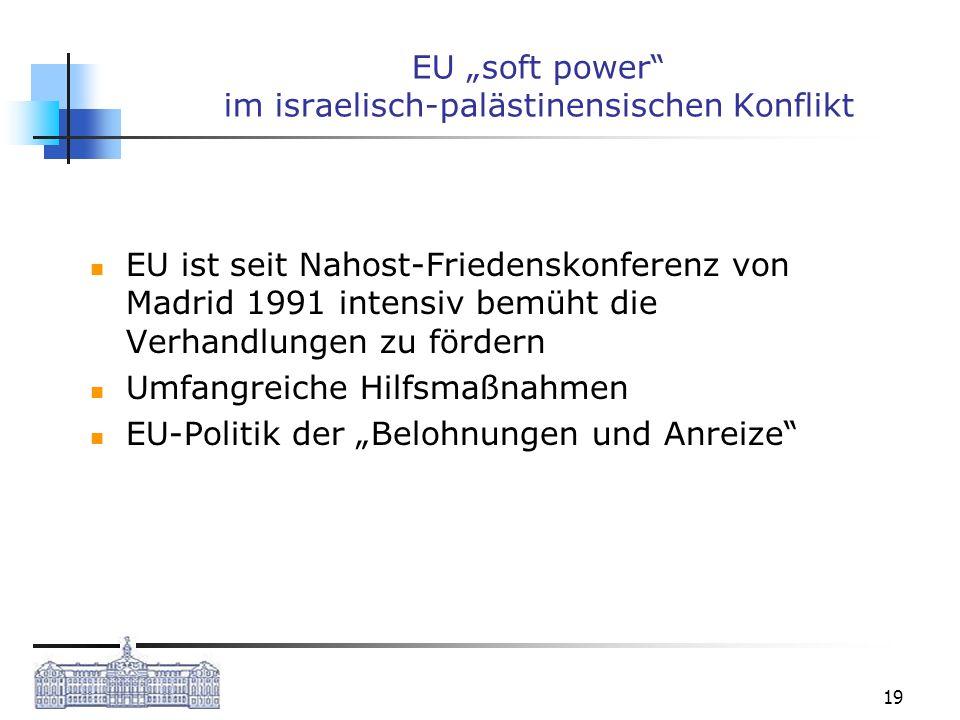 """EU """"soft power im israelisch-palästinensischen Konflikt"""