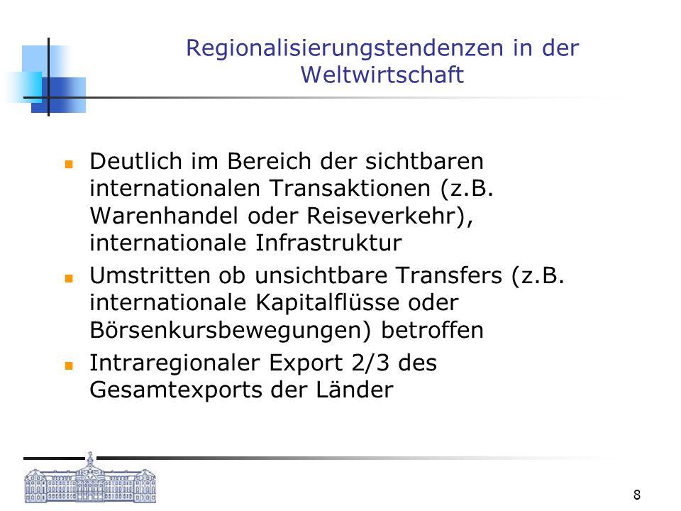 Regionalisierungstendenzen in der Weltwirtschaft