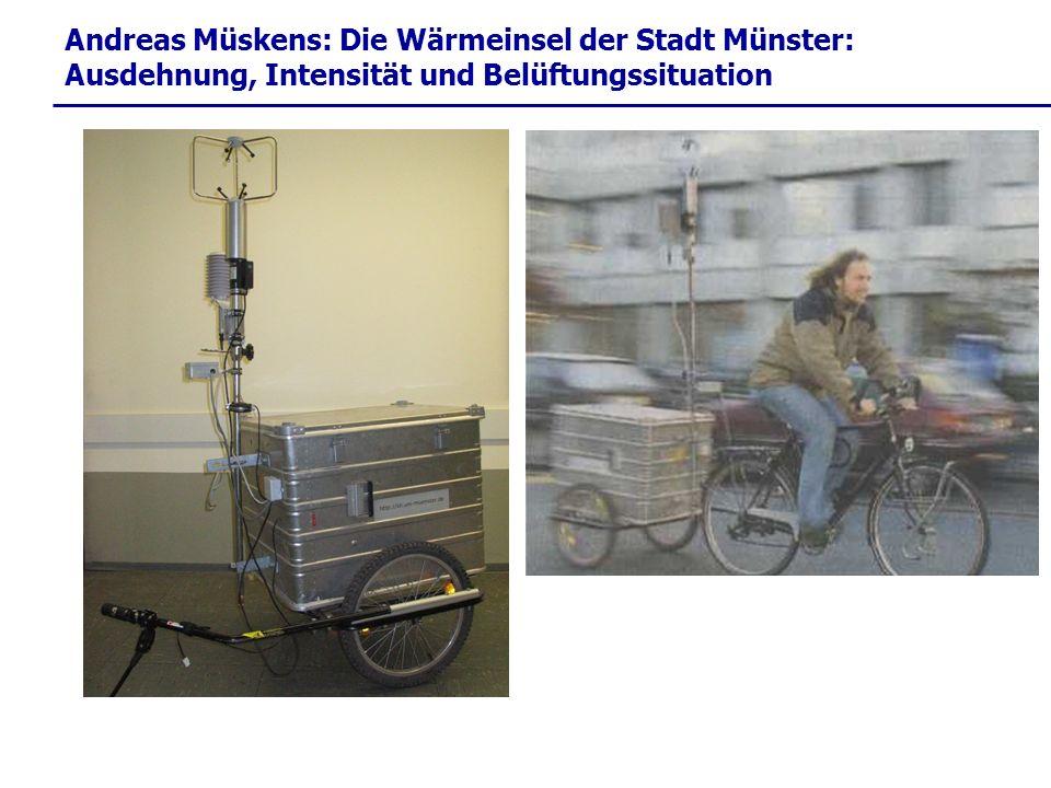 Andreas Müskens: Die Wärmeinsel der Stadt Münster: Ausdehnung, Intensität und Belüftungssituation