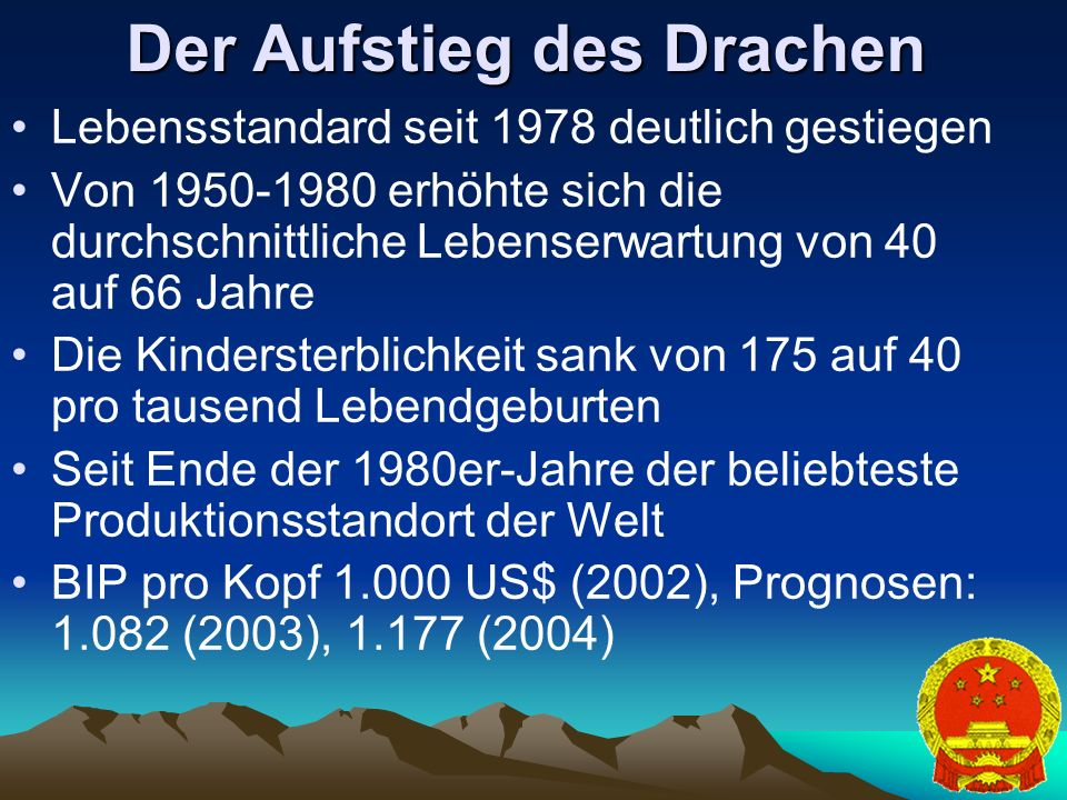 Der Aufstieg des Drachen