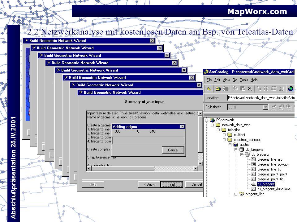 2.2 Netzwerkanalyse mit kostenlosen Daten am Bsp. von Teleatlas-Daten