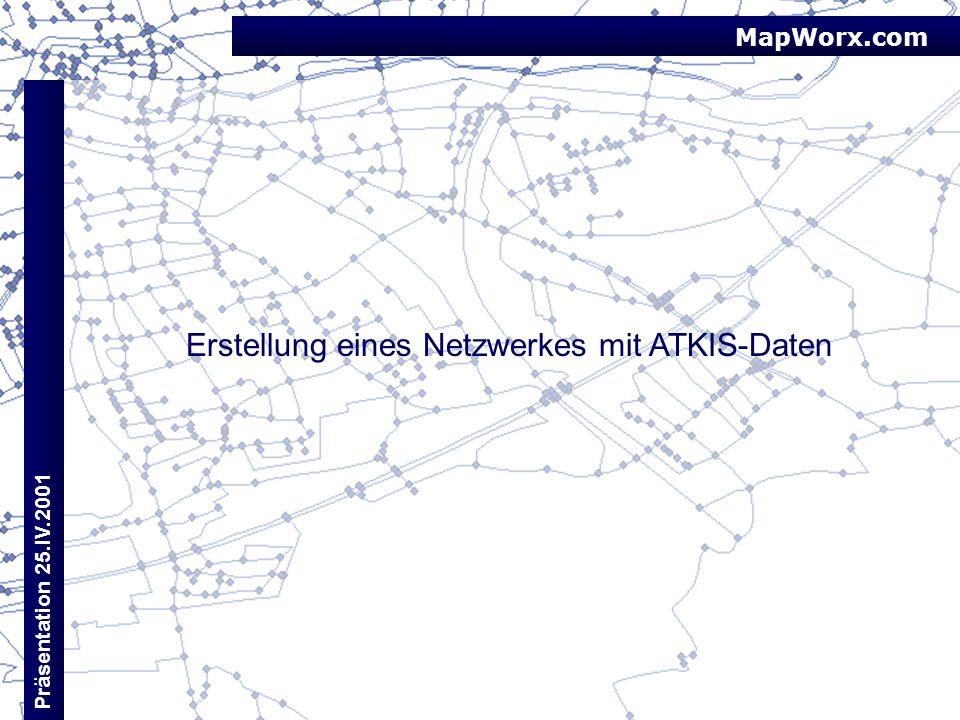 Erstellung eines Netzwerkes mit ATKIS-Daten