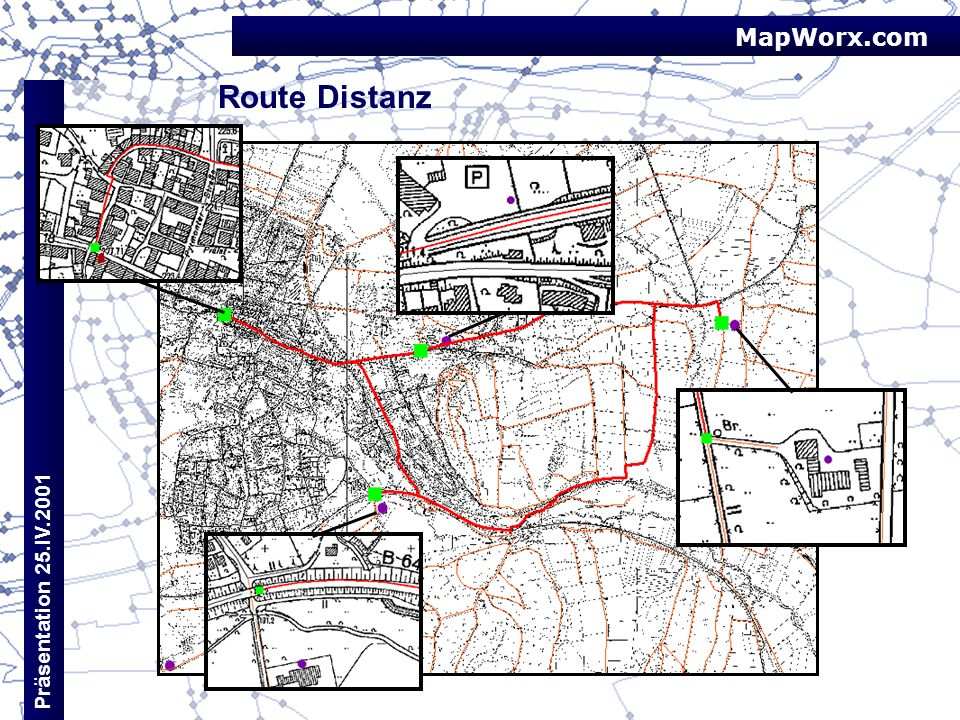 MapWorx.com Route Distanz Präsentation 25.IV.2001