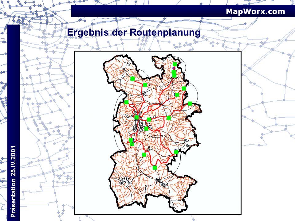 Ergebnis der Routenplanung