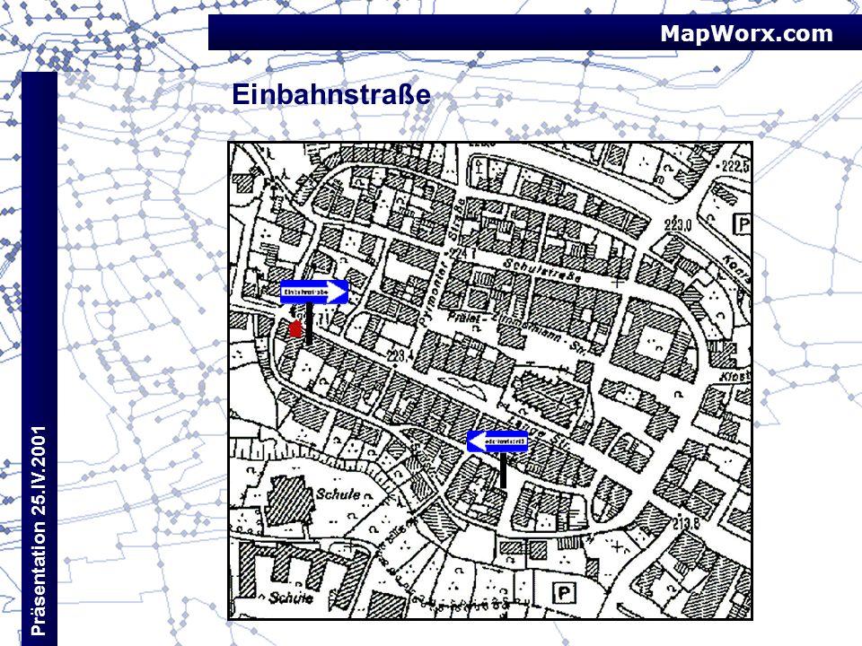 MapWorx.com Einbahnstraße Präsentation 25.IV.2001