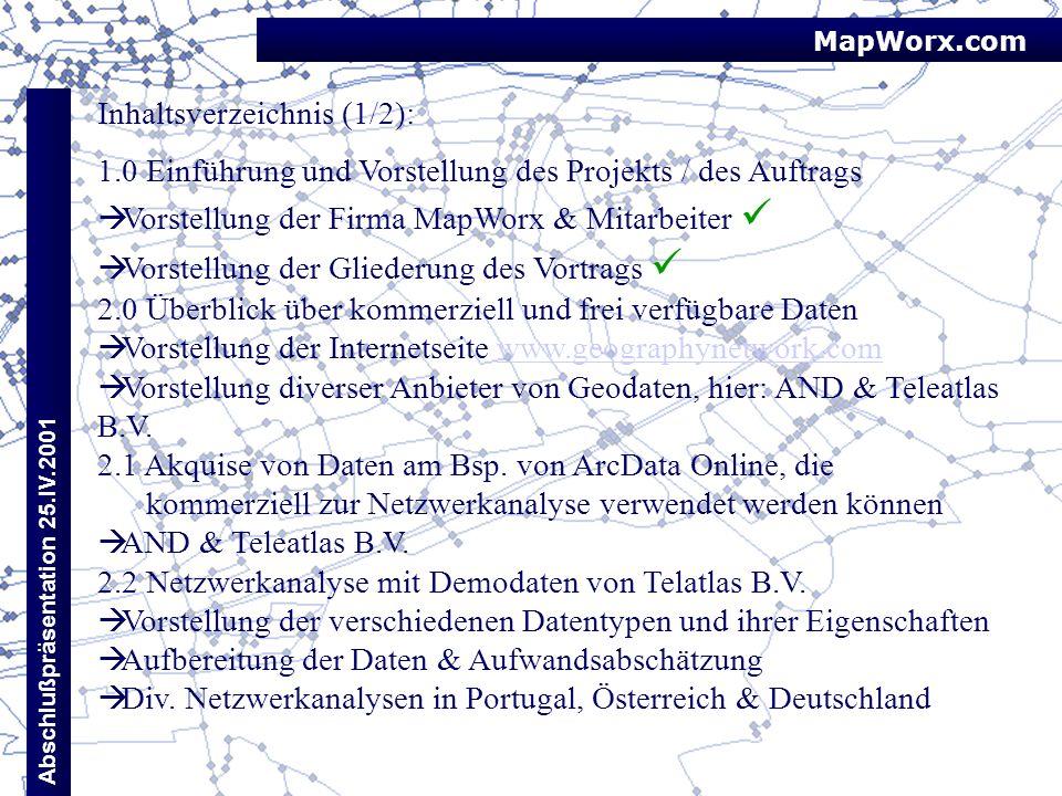 Inhaltsverzeichnis (1/2):