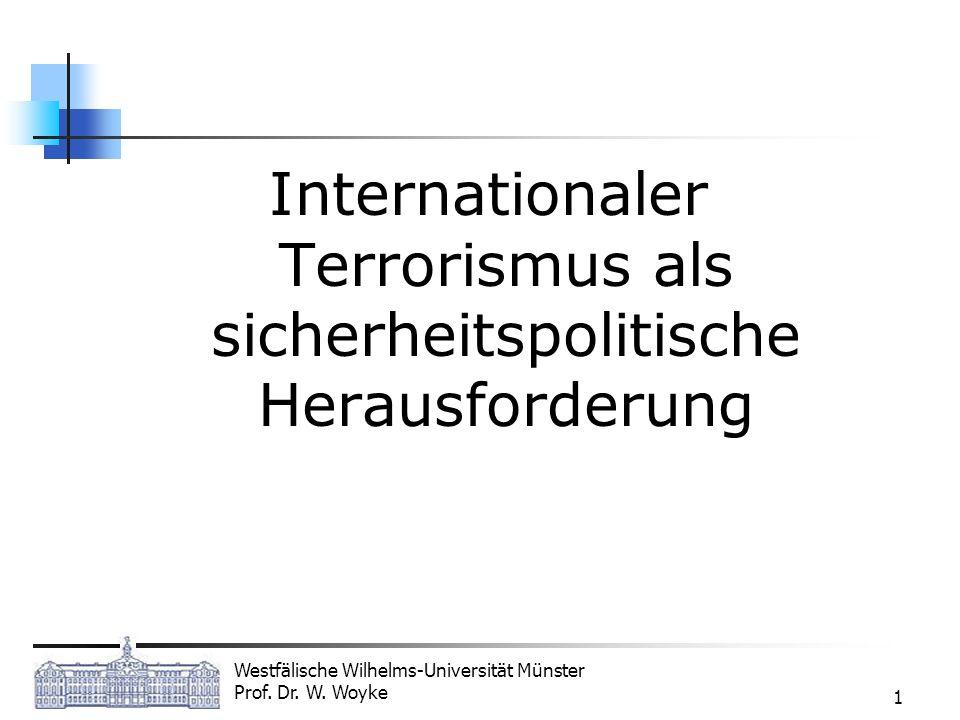 Internationaler Terrorismus als sicherheitspolitische Herausforderung